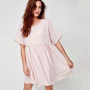WILFRED Kenzie Pink Babydoll T-Shirt Mini Dress